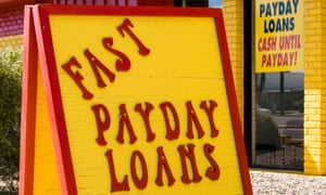 A sign offering payday loans