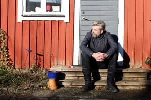 Karl Ove Knausgaard at home in Sweden.