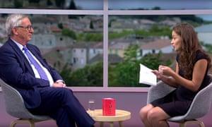 Laetitia Birbes interviews Jean-Claude Juncker, the European commission president, on YouTube.