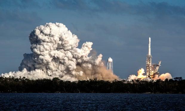 The blast. Photograph: Cristobal Herrera/EPA