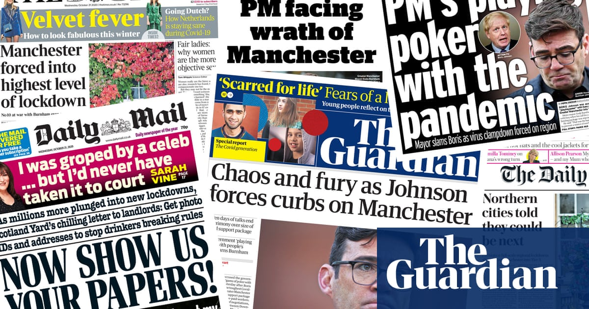 Tier and loathing: what the papers say about tough restrictions on Manchester