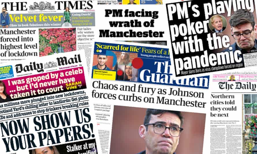 Front pages of the UK papers on Wednesday 21 October 2020