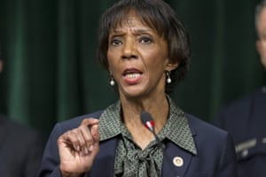 In this Jan. 6, 2020 file photo, Los Angeles District Attorney Jackie Lacey talks during a news conference.