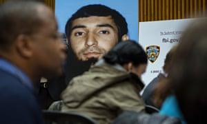 A photo of New York attack suspect Sayfullo Saipov.