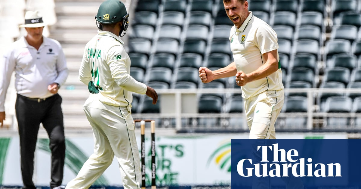 Anrich Nortje and Dean Elgar put South Africa in command against Sri Lanka