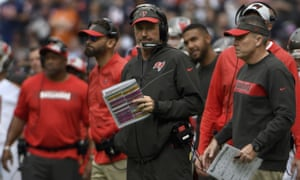 Dirk Koetter was not a happy man after Tampa Bay's loss on Sunday