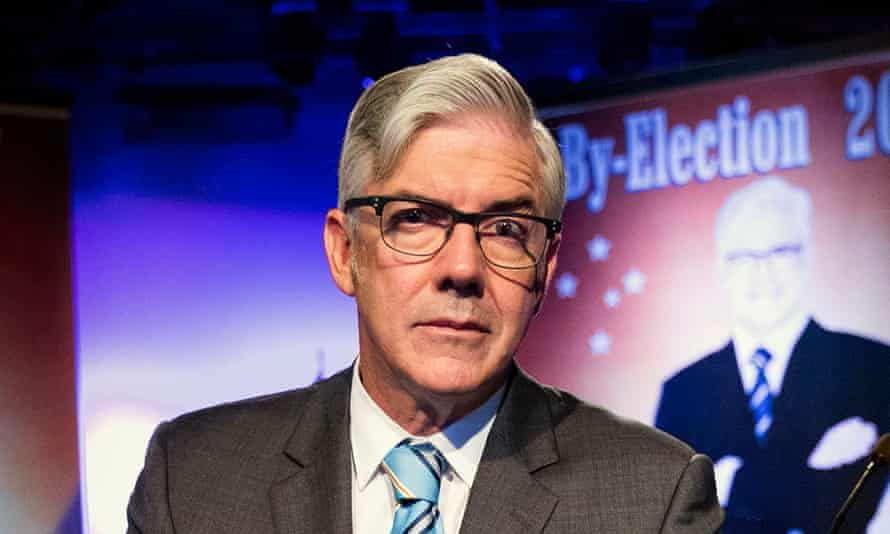 Shaun Micallef as Dugdale in season two of his ABC TV comedy series The Ex-PM.