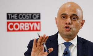 Britain's Chancellor of the Exchequer Sajid Javid