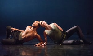 Kyle Abraham and Wendy Whelan in The Serpent and the Smoke at the Royal Opera House's Linbury Studio in 2014.