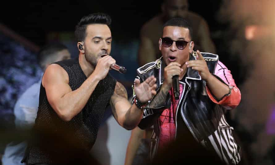 Luis Fonsi, left and Daddy Yankee perform Despacito during the Latin Billboard Awards in Florida.