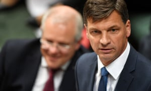 Angus Taylor answers a question during question time