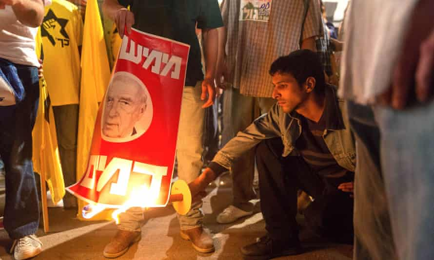 Yehuda Nahari as Yigal Amir, the assassin of Yitzhak Rabin, in Yaron Zilberman's film Incitement.