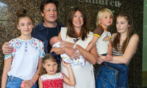Jamie and Jools Oliver and family in 2016.