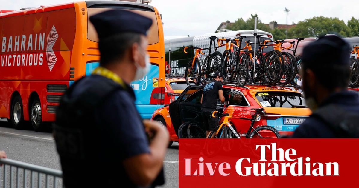 Tour de France 2021: stage 18 under way after Bahrain Victorious raid – live!