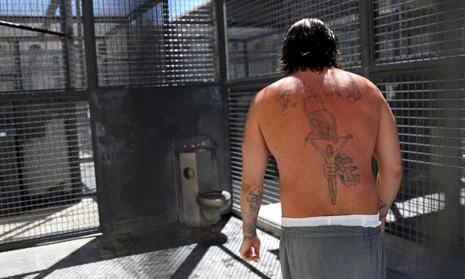 An inmate at San Quentin in California. The strike was symbolically timed to mark the death of a Black Panther held at the prison.