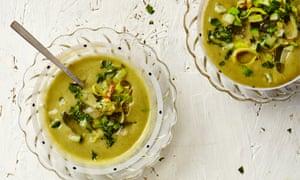 Thomasina Miers' lemongrass, cucumber and coriander vichyssoise