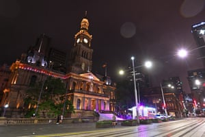 The Sydney Town Hall clock tower strikes midnight as the new year arrives