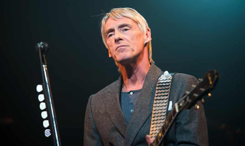 Paul Weller performs on stage at Edinburgh Playhouse