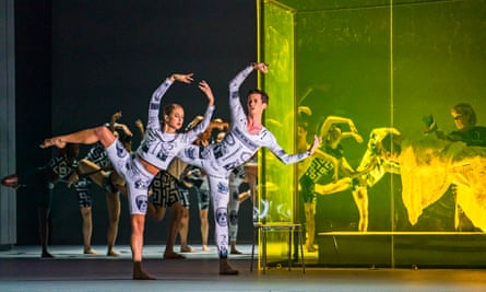 Dancers from Company Wayne McGregor in Orpheus and Eurydice at the Coliseum,