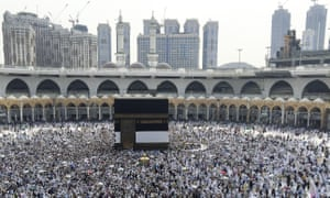 Muslim pilgrims at the Kaaba, Islam's holiest site, in Mecca last Friday.