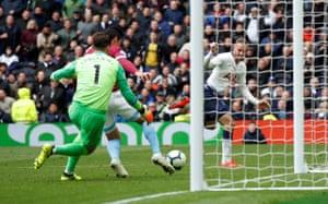 West Ham's Fabian Balbuena clears Vincent Janssen's header.