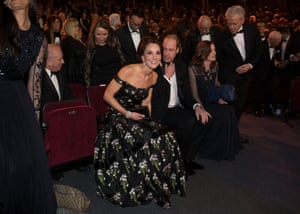 Catherine and Prince William take their front row seats