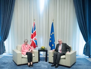 Sharm El-Sheikh, Egypt Theresa May meets President of the European Commission Jean-Claude Juncker