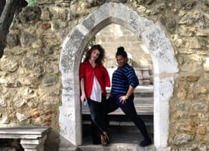 Candice Carty-Williams (right) and friend in Lisbon.