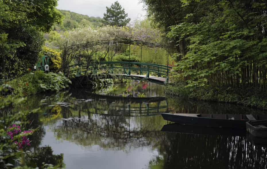 The Japanese-inspired water garden of Claude Monet's house.