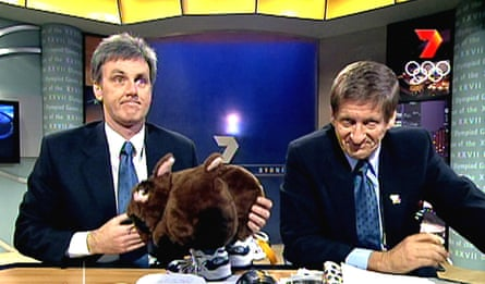 Roy Slaven and H.G Nelson with Fatso the Fat-Arsed Wombat on The Dream.