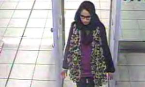 Shamima Begum  at Gatwick Airport