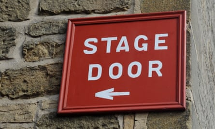 'Performers are constantly living on the edge, even without Covid' … a stage door sign.