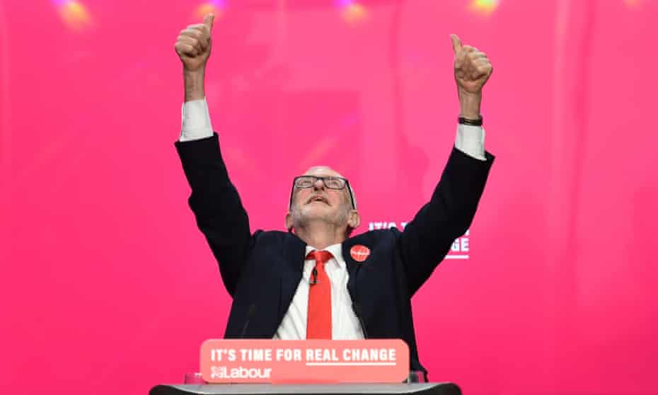 Jeremy Corbyn at the launch of the Labour party manifesto in Birmingham, November 2019