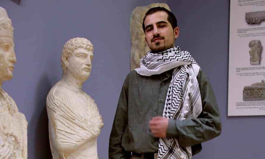 Bassel Khartabil, a pioneer of open data, at Palmyra in 2005. His whereabouts are now unknown
