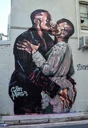 Kanye Loves Kanye (2016) by street artist Scott Marsh