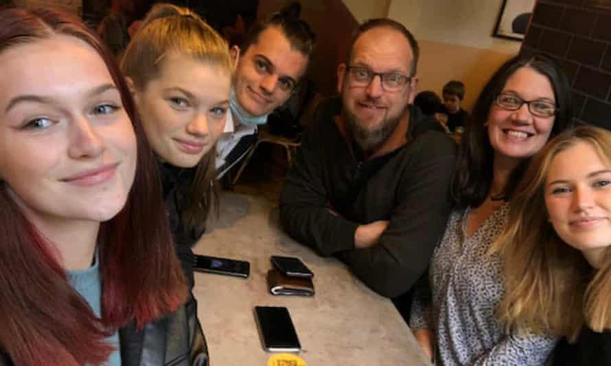 Intense lockdown: Tascha Oldland and her family