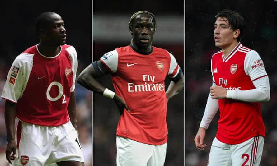 Arsenal right-backs Lauren, Bacary Sagna and Héctor Bellerín. Photographs by Getty and Rex/Shutterstock