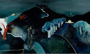 Detail from Mysterious Landscape, c 1930, by Tove Jansson