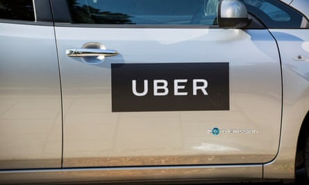Logo of Uber on a car in UK