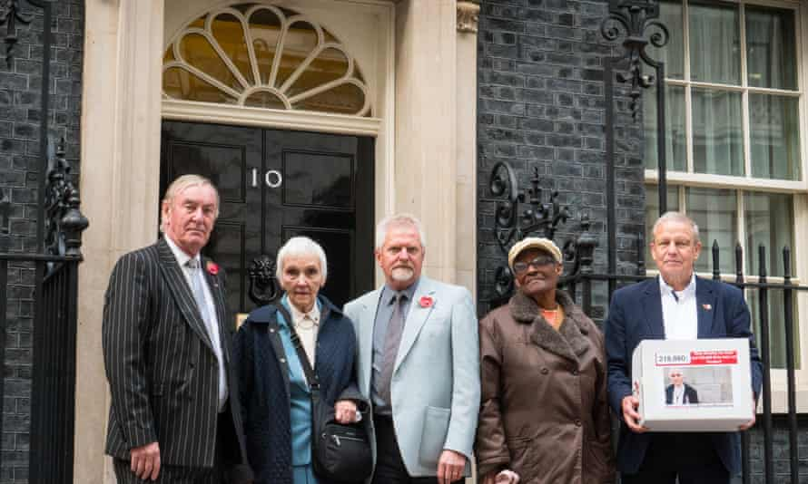 A petition calling on the government to deal with the problem of frozen state pensions was taken to Downing Street in 2018.