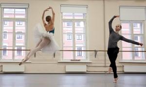 Dancers Valeria Zapasnikova and Leonid Sarafanov