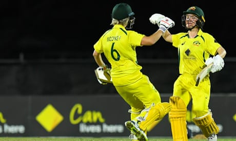Australia seal thrilling last-ball win over India in second women's ODI – as it happened