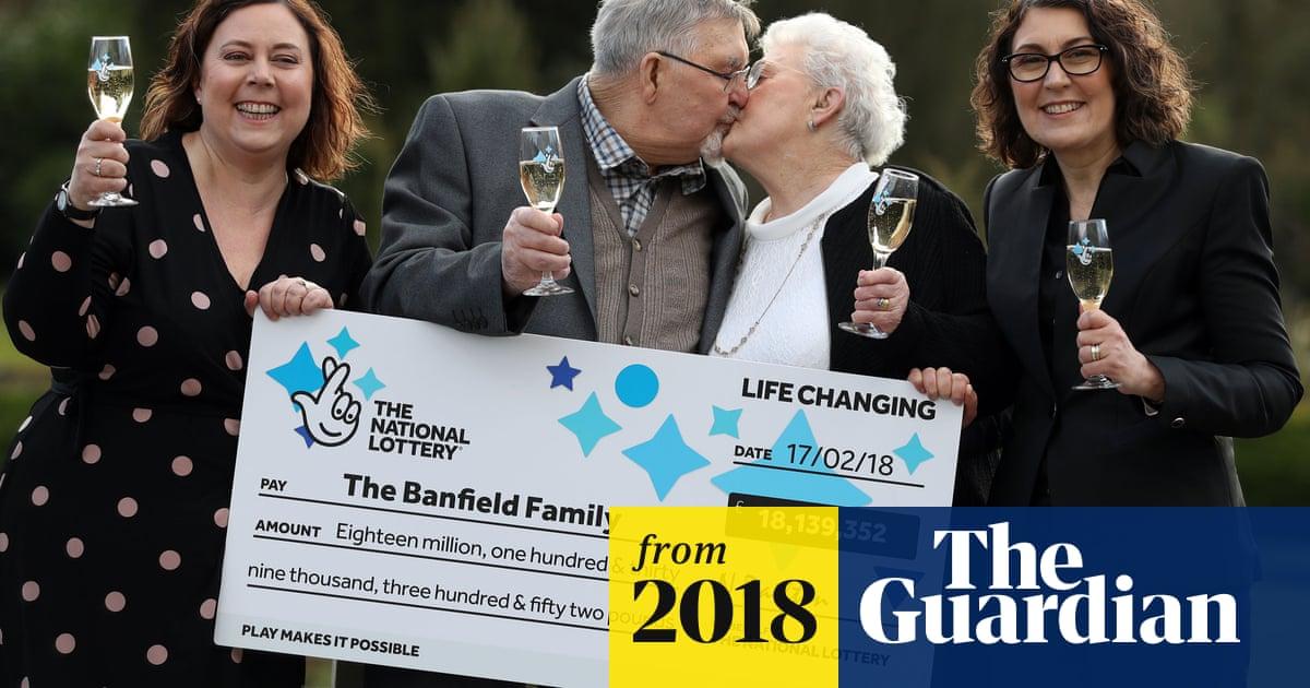 UK's oldest lottery winners scoop £18m jackpot | UK news