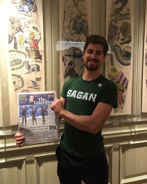 Peter Sagan, ready to take your questions