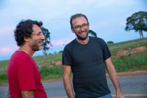 Veja co-founder Sébastien Kopp (right) with local anthropologist Marcelo Piedrafita.