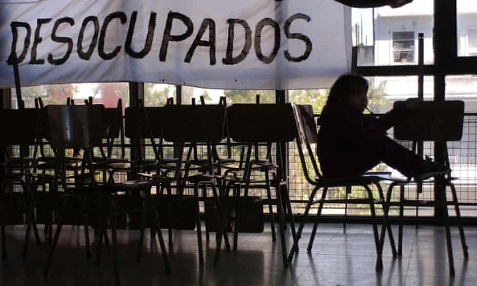 Occupied factory, Buenos Aires.
