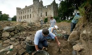 An archaeological dig in Aberdeenshire, Scotland.