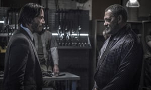 We meet again: Keanu Reeves and Laurence Fishburne in John Wick: Chapter 2.