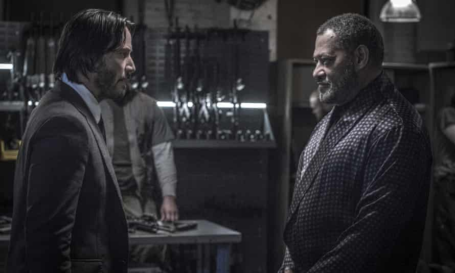We meet again: Keanu Reeves and Laurence Fishburne in John Wick: Chapter 2.