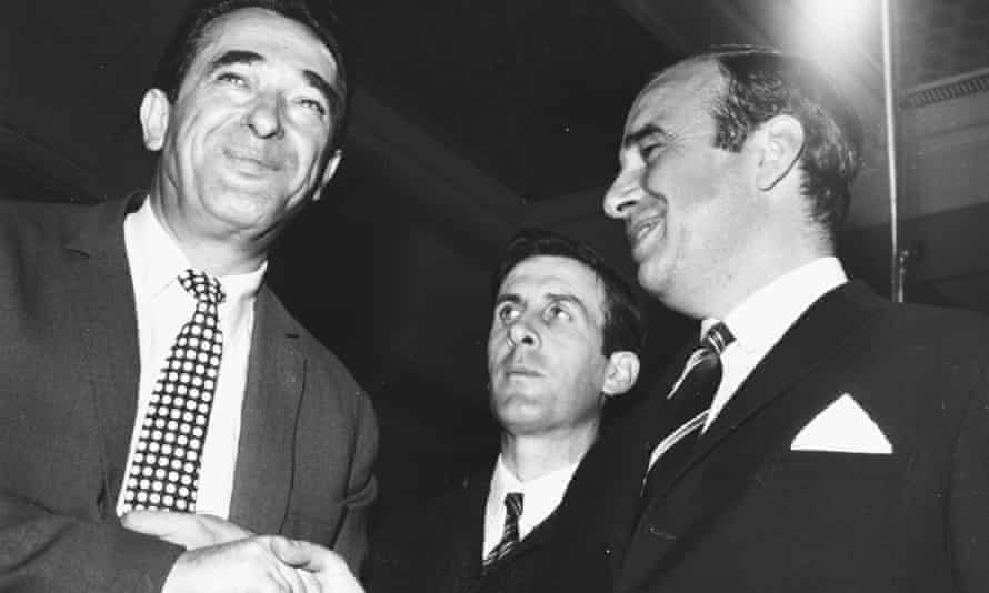 Maxwell, left, with Murdoch in 1969.